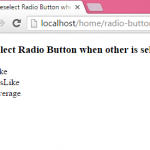 PHP Deselect Radio Button when other RadioButton is selected
