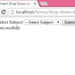 PHP Insert Drop Down List selected value in MySQL database