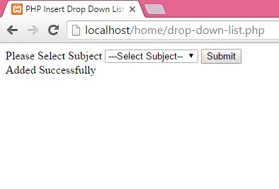 PHP Insert Drop Down List selected value in MySQL database - Android