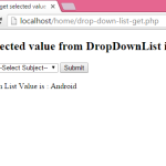 How to get selected value from DropDownList in php