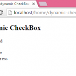 Create dynamic CheckBox in PHP using MySQL database records