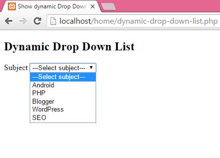 Html как сделать select