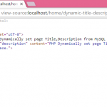 PHP Dynamically set page Title-Description from MySQL db data