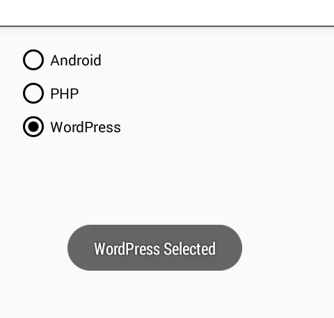 Create RadioGroup dynamically in android with Radio Button
