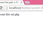 How to get current file url in PHP