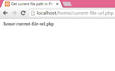 php current url