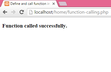 How to define and call function in php without argument
