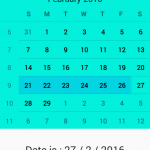 Get selected date from CalendarView in android