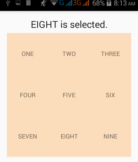 How to get selected item from gridview in android