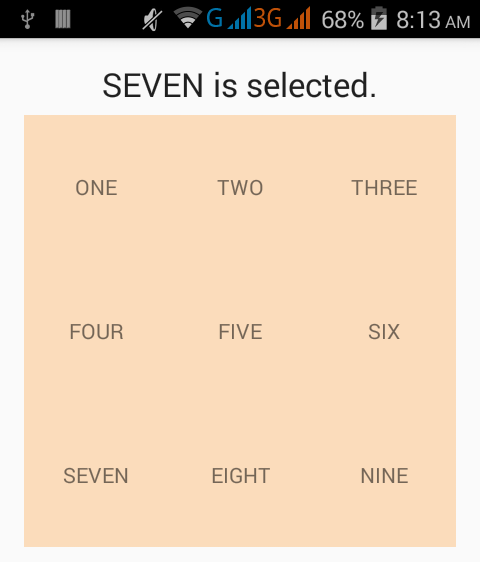 How to get selected item from gridview in android - Android