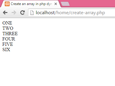 How to create an array in php dynamically and Display their values