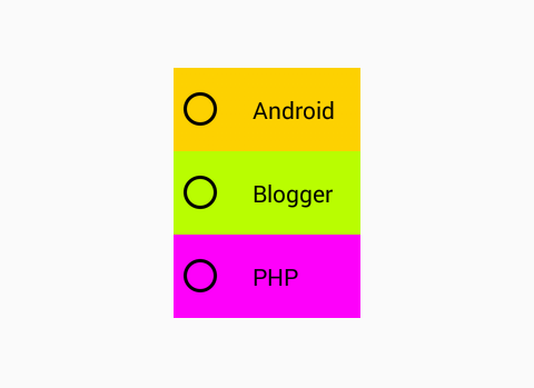 Change Radio Button background color in android via XML