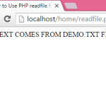 Use PHP readfile function to open any file on screen using Echo