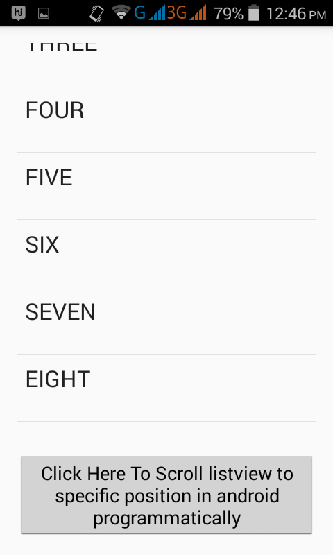 Scroll listview to specific position in android programmatically