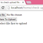 How to check upload file is selected or not in PHP