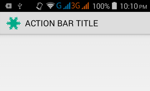 Set drawable icon inside ActionBar in android programmatically