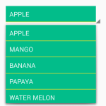 Set Border/Divider line between Spinner items in android