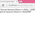 Remove all special characters from a string in PHP