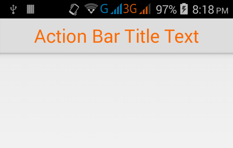 Change action bar title text color in android programmatically