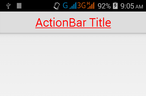 Set Underline on ActionBar title text in android programmatically