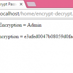 Encrypt and Decrypt password in PHP using md5 example tutorial