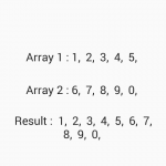 Combine Merge two integer arrays in Android Java