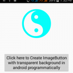 Create ImageButton with transparent background in android programmatically