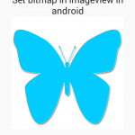 Add/Set bitmap in imageview in android programmatically