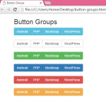 Create horizontal menu Button Groups using Bootstrap in HTML,PHP