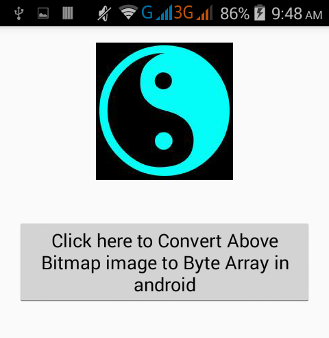 Convert Bitmap image to Byte Array in android example