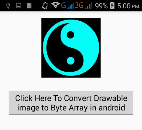 Convert Drawable image to Byte Array in android - Android Examples