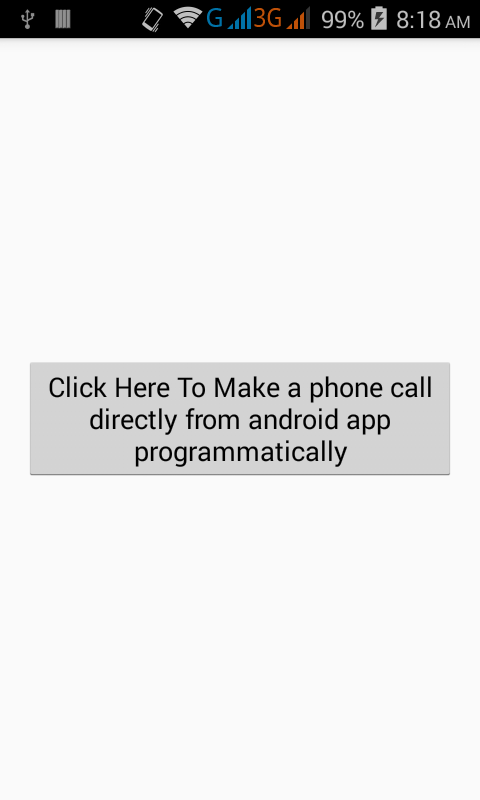 Make a phone call directly from android app programmatically