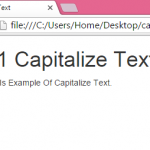 Make only first Character-Letter capital using bootstrap css class in html page