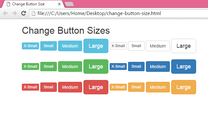 Change Pagination menu size in Bootstrap in HTML,PHP - Android Examples