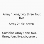Combine Concat Merge two string arrays in Java Android