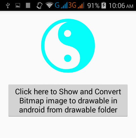 How to Convert Bitmap image to drawable in android - Android