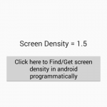 Find/Get screen density in android programmatically