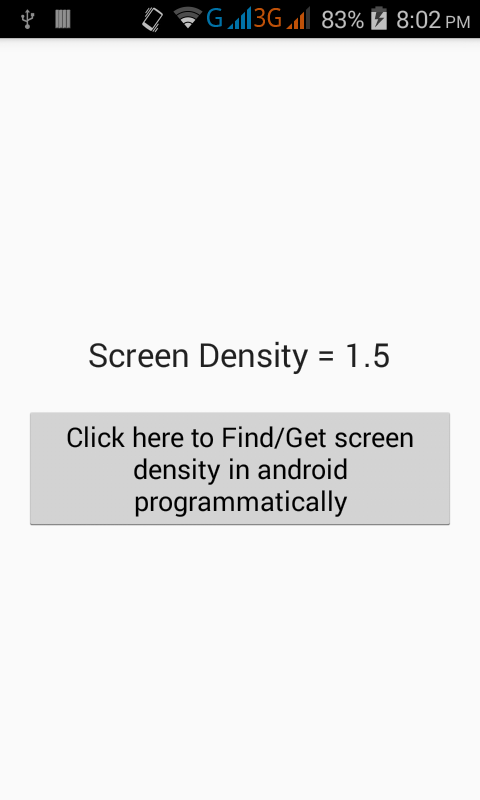 Get screen density in android programmatically