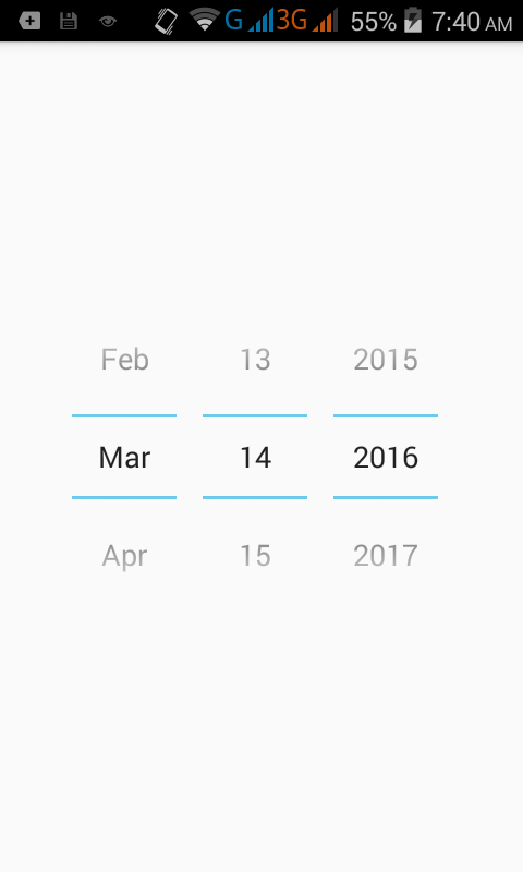 Hide/Remove calendar from DatePicker in android using XML