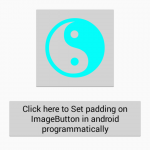 Set padding on ImageButton in android programmatically