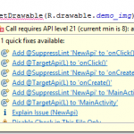 Fix drawable drawable=getdrawable() alternative for android programming