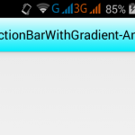 Create Action Bar with Gradient Shaded background in android