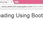 Create H1 Heading tag in HTML page using Bootstrap