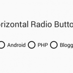 How to make Radio button horizontal in android