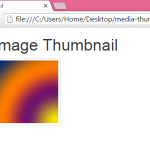 Create image thumbnail in HTML,PHP using Bootstrap classes