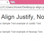 Set paragraph tag text align Justify,Nowrap using bootstrap classes in HTML,PHP