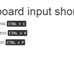 Use kbd tag to create keyboard input shortcuts using Bootstrap classes in HTML,PHP
