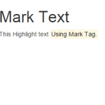 Create Highlight text using mark tag with Bootstrap classes in HTML,PHP