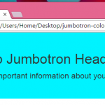 Override/Change the background color of Jumbotron Bootstrap