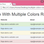 Create table with multiple colors rows using Bootstrap in HTML,PHP